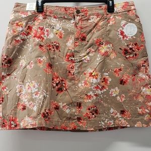 Croft & Barrow Floral Stretch Skort NWT Size 18
